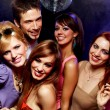 Happy friends on a party - Foto Stock