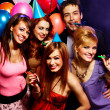 Happy friends on a party — Stock Photo #22511993