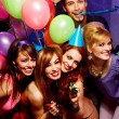 Happy friends on a party — Stock Photo #22512067