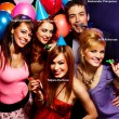 Happy friends on a party — Stock Photo #22512171