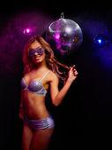Disco girl — Stock Photo