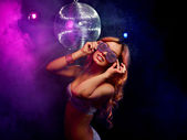 Disco girl — Fotografia Stock