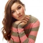 Teen girl in warm wool sweater — Stock Photo #39241817