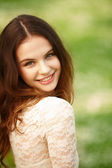 Mädchen auf eine sommer-zeit — Stockfoto