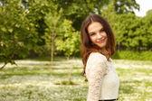 Garota em um horário de verão — Foto Stock