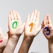 New Year 2013 - numbers on the hands — Stock Photo #16989427