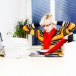 Busy business woman working in her office — Stock Photo
