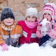 Happy children in snow — Stock Photo #20560949