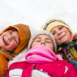 Happy children in snow — Stock Photo #20565287