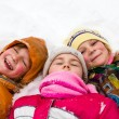 Stock Photo: Happy children in snow