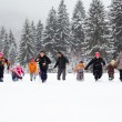 Family having fun in the snow — Stock Photo #20566679