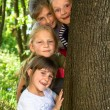 Happy children spending time together — Stockfoto