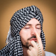 Arab muslim man with turban — Stock Photo