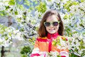 Little girl in spring — Stock Photo