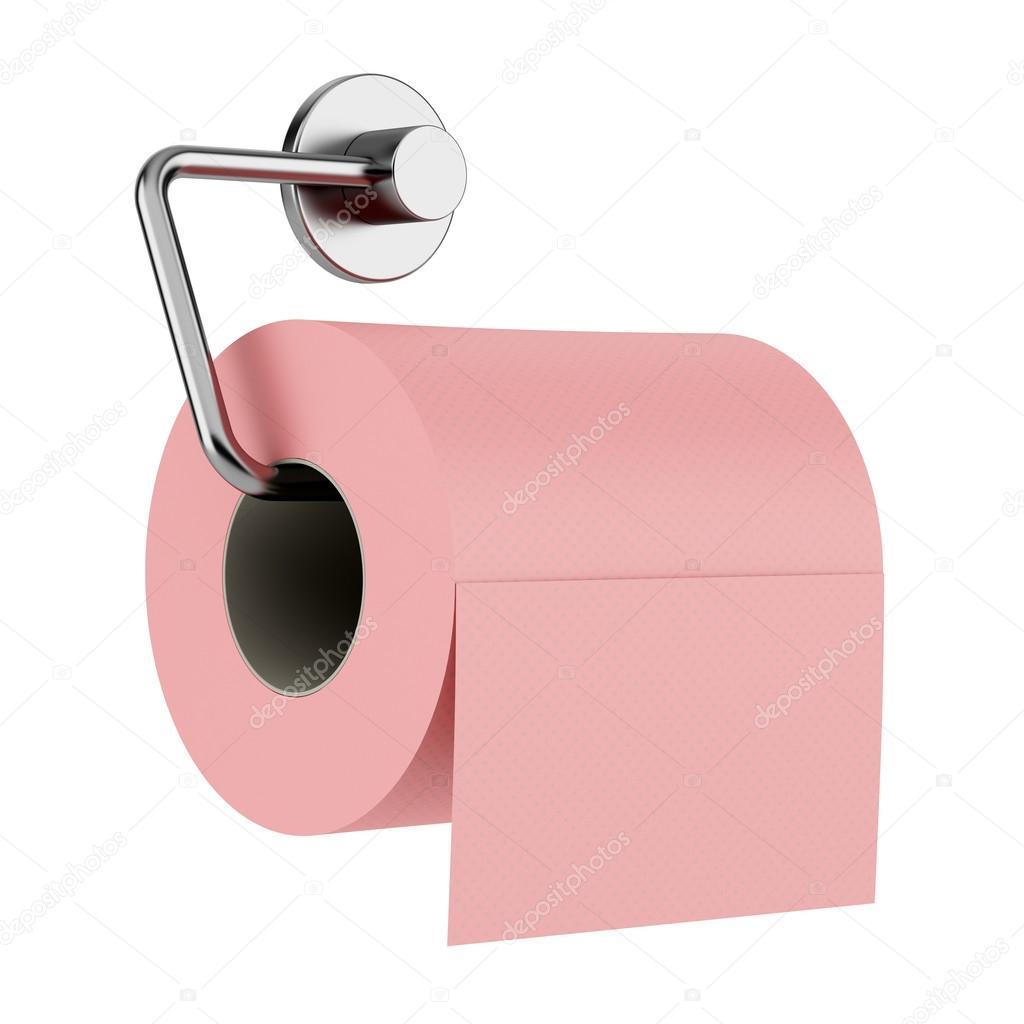 papier toilette rose sur support isol sur fond blanc photo 22012937. Black Bedroom Furniture Sets. Home Design Ideas