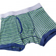 Striped male brief boxers isolated on white background — Stock Photo