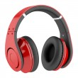Red and black wireless headphones isolated on white background — Stock Photo