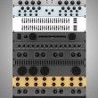 Stock Photo: Audio effects processors in a rack isolated on gray background