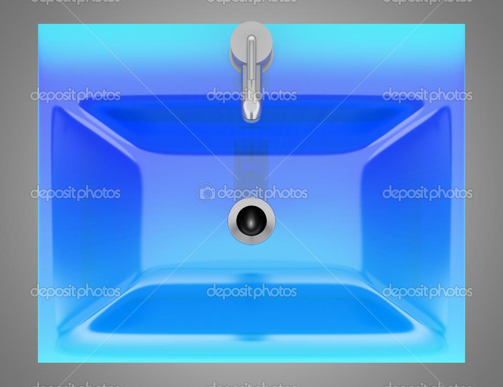 do banheiro moderno vidro azul isolada na bac cinza – Imagem Stock #0790C4 1024x787 Banheiro Cinza Com Azul