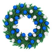 Ornate christmas wreath isolated on white background — Stock Photo