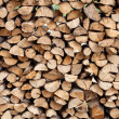 Stack of chopped fire wood — Stock Photo #45711493