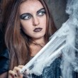 Portrait of a young witch. Halloween, horror. — Stock Photo #13276685