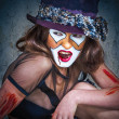 Close up portrait scary monster clown — Stock Photo #13276702