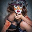 肖像画の恐いモンスターのピエロ — ストック写真