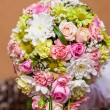 Wedding bouquet of multi-colored flowers — Stock Photo