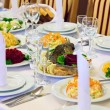 Stock Photo: Table set for event party or wedding reception