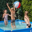 Happiness children at pool — Foto Stock