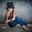 Portrait scary monster clown — Stockfoto #13277225