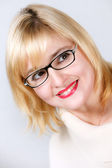 Portrait of lovely woman in glasses — Stock Photo