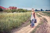 Devolva a garota rural local nativo — Foto Stock