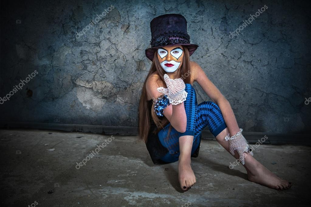 Portrait scary monster clown — Stock Photo #13276481