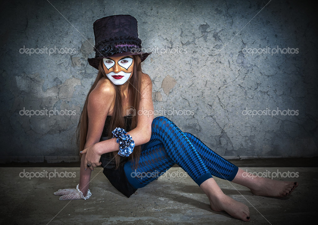 Portrait scary monster clown — Stock Photo #13277225
