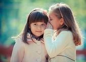 Girlfriends in park — Stock Photo