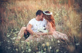 Love   between   young couple — Stock Photo