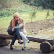 Mother with daughter in park — Stock Photo #47354041