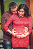 Man and Pregnant Woman — Stock Photo