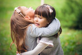 Girlfriends in park — Stock Photo