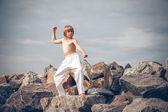 少年トレーニング空手 — ストック写真