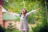 Little girl   in sunny  day — Stock Photo