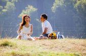Couple at picnic — Stock Photo
