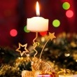 Christmas candle and gift boxes. — Stock Photo #8135530