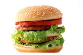 Hamburger juicy with meat — Stock Photo