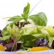 Salad with mushrooms and tangerines - Stockfoto