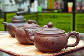 Zavarnye teapots from clay — Stock Photo