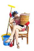 Moe huisvrouw — Stockfoto