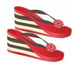 Beach footwear. Vector illustration — Stock Vector #3125588